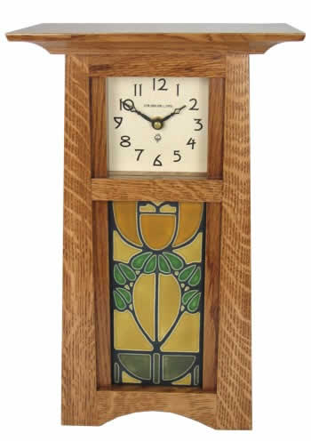 Craftsman Tile Clock